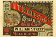 T.b. Guest And Co. Steam Biscuit Factory Vintage Advertising