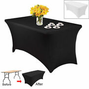 Rectangular Tablecloth Spandex Lycra Stretch Table Cover 8ft Or 6ft