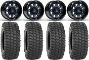 Fuel Lethal Blue 15 Wheels 32 Xcr350 Tires Can-am Renegade Outlander