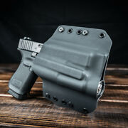 Owb Kydex Light Bearing Holster For Guns With Rmr-optic And Olight Pl-2 - Black