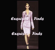 2004 Tom Ford For Crystal Embellished Pink Silk Dress New With Tags