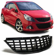 No Logo Grill For Corsa D Mk 2 Front Opc Badgeless Debadged Sport Grille Hood