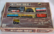 Beautifull Vintage Haji Battery Operated Freight Train Set No.86 Made In Japan