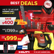 Hilti Te 40 Avr Hammer Drill Preowned Free Laser Meter Fast Ship