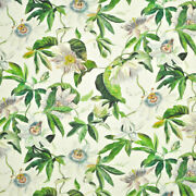 Clarence House Passion Flower Linen Fabric 10 Yards Summer Multi