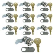 Leisure Cw 10 Pack 5/8 Rv Compartment Door Cam Lock Latch With Ch751 Key
