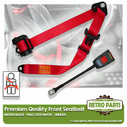 Front Automatic Seat Belt For Skoda Mb 1000 Berlina 1964-1977 Red