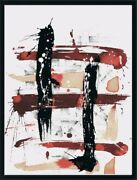Original Abstract Painting Signed Art Above Nightstand Bedside Table Zen