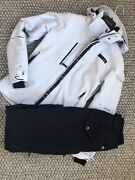 Womens White And Navy Blue Eider Ski Jacket Trousers Salopetts Size 38 Small