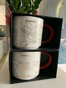 Starbucks Coffee 2x And039you Are Hereand039 And039france And Greeceand039 Xmas Holiday Yah City Mug