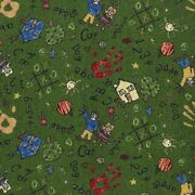 Scribbles Green Indoor 26 Oz Stainmaster Nylon Cut Pile Area Rug