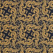Scrollwork Navy Indoor 26 Oz Stainmaster Nylon Cut Pile Area Rug
