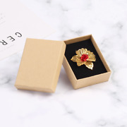 360x Kraft Paper Jewelry Box Ring Necklace Stud Earrings Pendant Brooches Box