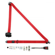 Front Automatic Seat Belt For Opel Blitz Sager - 1971-1975 Red