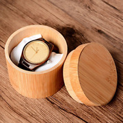 100x Quartz Casual Mens Watch Boxes Bamboo Wooden Wristwatch Engraved Case Box