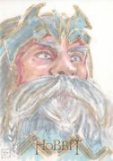The Hobbit An Unexpected Journey Sketch Card By David Rabbitte 1/1