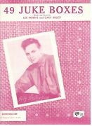Alfy Weatherbee 49 Juke Boxes Sheet Music-piano/vocal/chords-1957-new On Sale