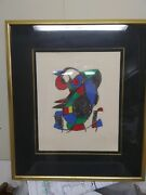 Joan Miro Lithograph Hand Signed