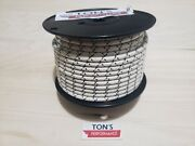 100and039 Roll 7mm Copper Core Braided Cloth White With Black Tracers Spark Plug Wire