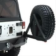 Smittybilt Xrc Black Textured Rear Bumper With Hitch And Tire Carrier 76856