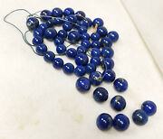 Antique Group Of Lapis Lazuli Large Loose Graduated Beads Necklace Jewelry 260g