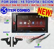 Toyota And Scion Pioneer Dvd Cd Bluetooth Bt Usb Aux Car Radio Stereo Double Din
