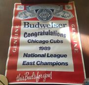 Budweiser 1989 National League Championship Series Nlcs Poster Chicago Cubs