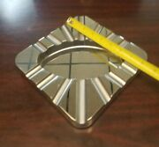 Last One.....cohiba Square 14 Cigar Stainless Steel Cigar Ashtray. Polished. 8x8