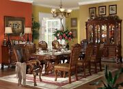 Dresden 108double Pedestal Dining Room Set Tableand4 Chair Cherry Oak Carved Wood