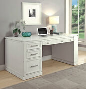 Catalina Coastal 60 Writing Desk With Power Center And Usb In Cottage White