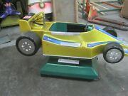 Gold Coin Operated Racing Car, Formula 1 Grand Prix Kiddie Ride Indy 500
