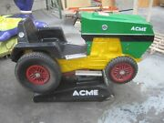 Antique Coin Operated Tractor John Deere Farmer Kiddie Ride Green