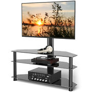 Swivel Floor Tv Stand For 32 37 40 42 47 50 55 60 65 Inch Lcd Led Flat Screen Tv
