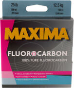 Maxima Fluorocarbon One Shot Spool 200 Yards - Bass And Pike Fishing Line/leader