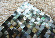 11pcs Black Lip Shell Mosaic Mother Of Pearl Kitchen Shower Bathroom Wall Tiles