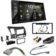 Ddx26bt 2-din 6.2 Dvd Receiver Dash Kit For 2006-11 Honda Civic+rear Camera
