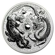 2018 Perth Mint 1oz Silver Dragon And Tiger Reverse Proof ⭐723⭐v6⭐