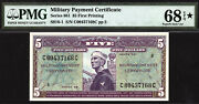 5 Series 681 Mpc Military Payment Certificate Pmg 68 Epq Star - Finest Known