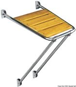 Osculati Stainless Steel Side Platform With Iroko Grid Without Ladder 45x45cm
