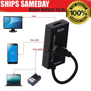 Mhl Micro Usb Male To Hdmi Female Adapter Cable For Android Smartphone And Tablet