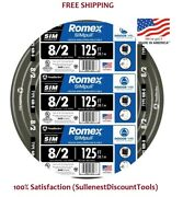 Southwire 8/2 Awg Gauge 125ft Indoor Electrical Copper Wire Ground Romex Cable