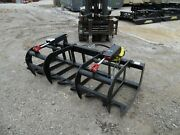 New 78 Hd Log Root Brush Grapple Bucket 2 Cylinder Usa Made Attachment