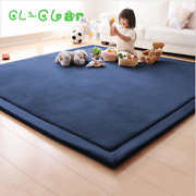 Best New 2cm Thick Play Mats Coral Fleece Blanket Carpet Children Baby Crawling