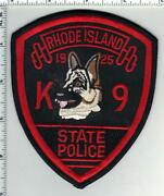 State Police Rhode Island 1st Issue K-9 Shoulder Patch