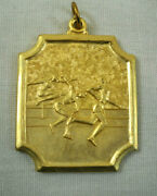 5 Track And Field Gold Metal Medallion Award New Old Stock 1992