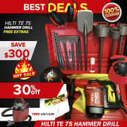 Hilti Te 75 Hammer Drill Great Condition Free Vacuum Bits Extras Fast Ship