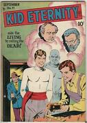 Golden Age Kid Eternity 11 Quality Comics Group 9.0 Vf/nm