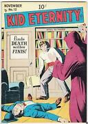 Golden Age Kid Eternity 12 Quality Comics Group 9.0 Vf/nm