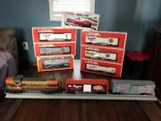 Lionel 10 Pc Set-1 Engine With 9 Cars