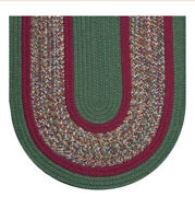 Green And Raspberry Braided Area Rugs By Colonial Rug--many Sizes 130ex